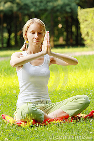 Yoga woman at meditation