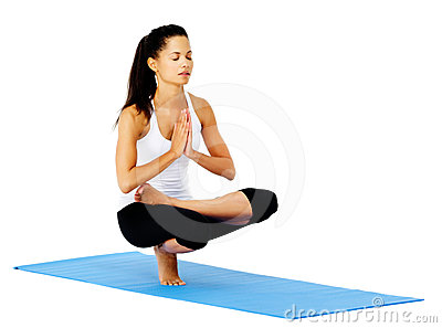 Yoga woman mountain pose