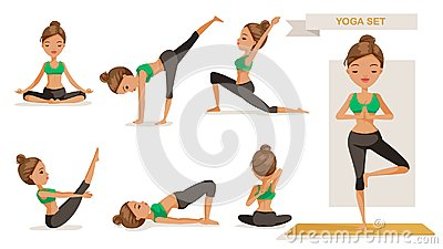 Yoga woman Vector Illustration