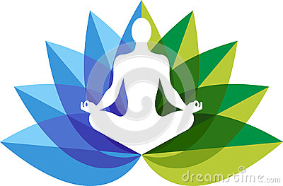 Yoga zen logo Vector Illustration