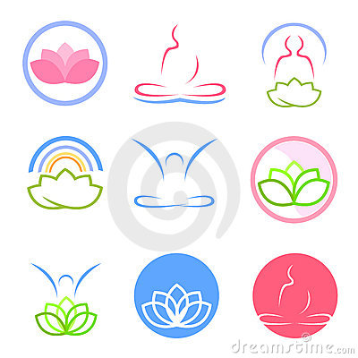 Yoga and zen logos vector
