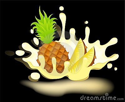 Yoghurt with fresh pineapple