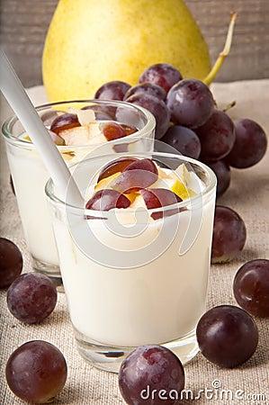 Yoghurt in glass