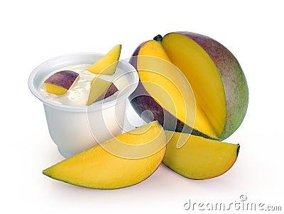 Yoghurt with mango