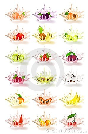 Free Yoghurt With Fresh Fruit Stock Images - 11090004