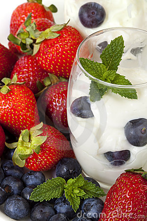 Yogur con las bayas