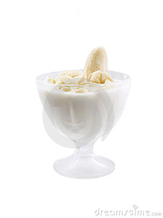 Yogurt with a banana