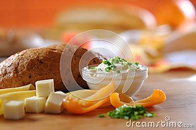 Yogurt cream with herbs