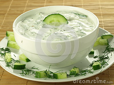 Yogurt and cucumber sauce