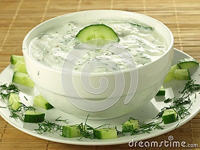 Yogurt and cucumber sauce