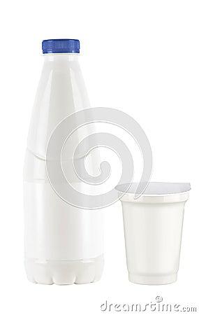 Yogurt and milk package
