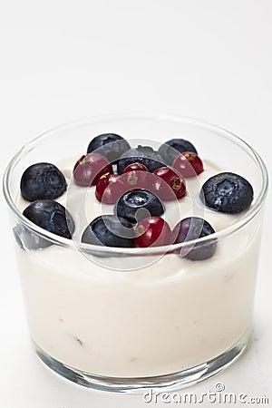 Yogurt in plastic box container