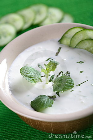 Free Yogurt Soup With Cucumber Stock Photography - 2458812