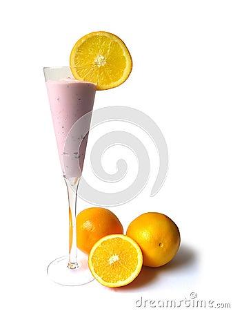 Yogurt in tall glass