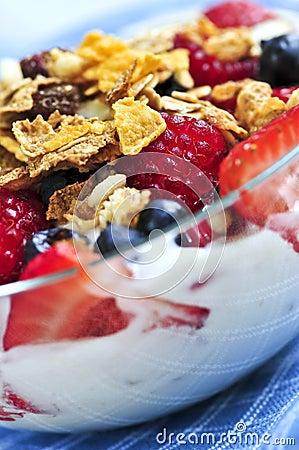 Free Yogurt With Berries And Granola Stock Image - 6515031