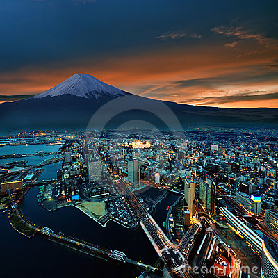 Yokohama city surreal view