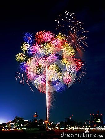 Free Yokohama Fireworks Stock Images - 10115274