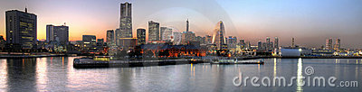 Yokohama Sunset Panoramic, Japan Stock Photo - Image: 14113840