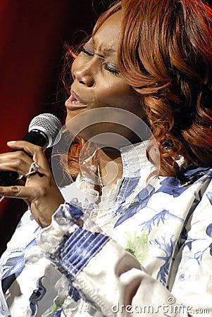 Yolanda Adams performing live. Editorial Stock Photo