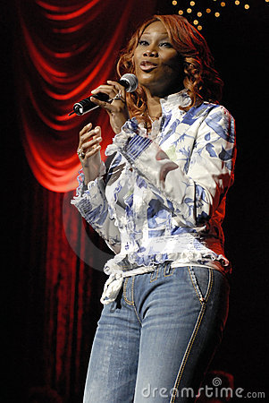 Yolanda Adams performing live. Editorial Stock Image
