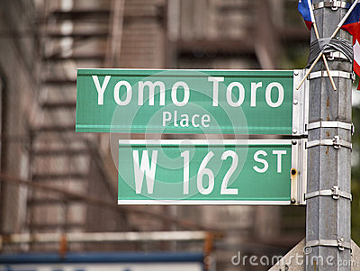 Yomo Toro Place sign to honor legendary musician Editorial Stock Photo