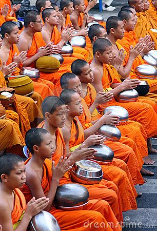 Yong monks pray Editorial Image