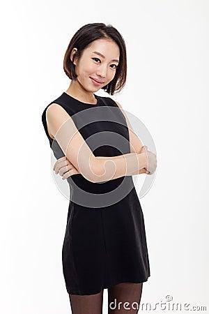 Yong pretty Asian business woman