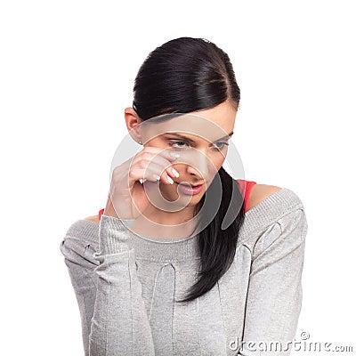 Free Yong Woman Depressed Royalty Free Stock Image - 15533516