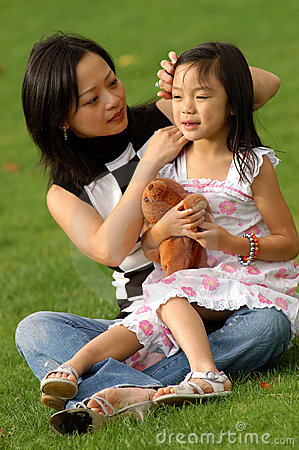 Yong woman and her daughter no.3