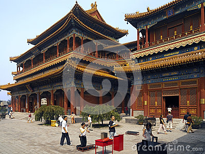 Yonghe Buddhist Temple - Beijing - China Editorial Photography