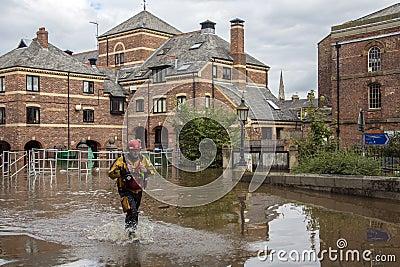 York überschwemmt - Sept.2012 - Großbritannien Redaktionelles Stockbild