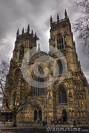 York Minster on a cloudy evening, Spring 2013 Editorial Image