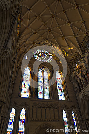 Free York Minster South Transept With Rose Window Stock Image - 51801501