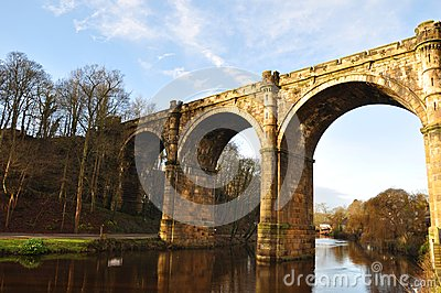 Yorkshire Knaresborough bridge viaduct,