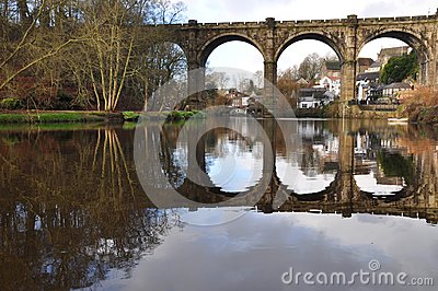 Yorkshire Knaresborough Viaduct River  Royalty Free Stock Photo - Image: 28595545