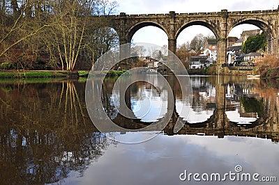 Yorkshire Knaresborough viaduct river