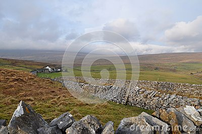 Yorkshire lake district stone walls