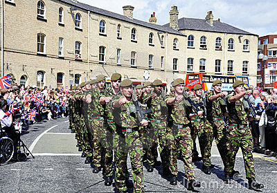 Yorkshire Regiment troops Editorial Photography