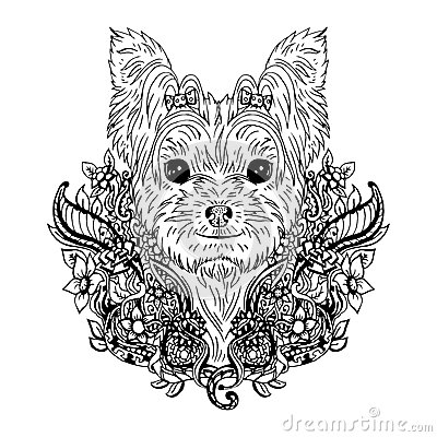 yorkshire terrier graphic dog abstract vector illustration stock vector image 66403613. Black Bedroom Furniture Sets. Home Design Ideas