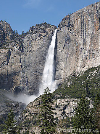 Yosemite falls waterfall
