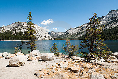 Yosemite national park lake tenaya