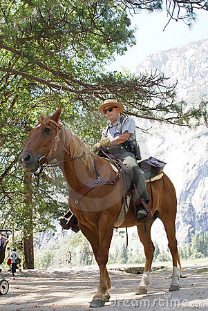 Yosemite National Park Ranger Editorial Stock Image