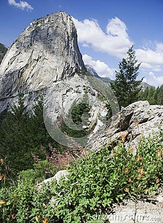 Yosemite Peak and Nevada Falls