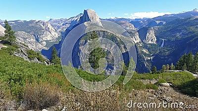 Yosemite Przyrodniej kopuły sceniczny widok zbiory wideo