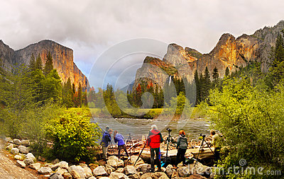Yosemite Sunset, Yosemite National Park Editorial Stock Photo