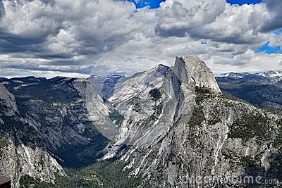 The Yosemite Valley and Half Dome Stock Photo