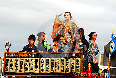 Yoshiwara matsuri της Ιαπωνίας Εκδοτική εικόνα