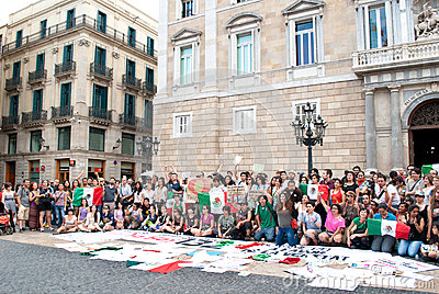 YoSoy132 Barcelona Editorial Stock Image