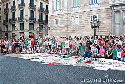YoSoy132 Barcelona Editorial Stock Image