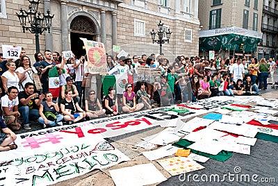 YoSoy132 Barcelona Editorial Image